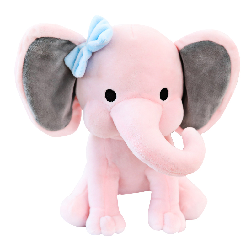 Color <strong>plush</strong> and stuffed elephant toys with big ears Wholesale custom cheap cute soft elephant <strong>plush</strong> toy