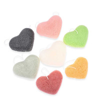 4 Different Shaped Custom Packaging Wholesale 100% Natural Facial Makeup Konjac Sponge Cosmetic Sponge Puff