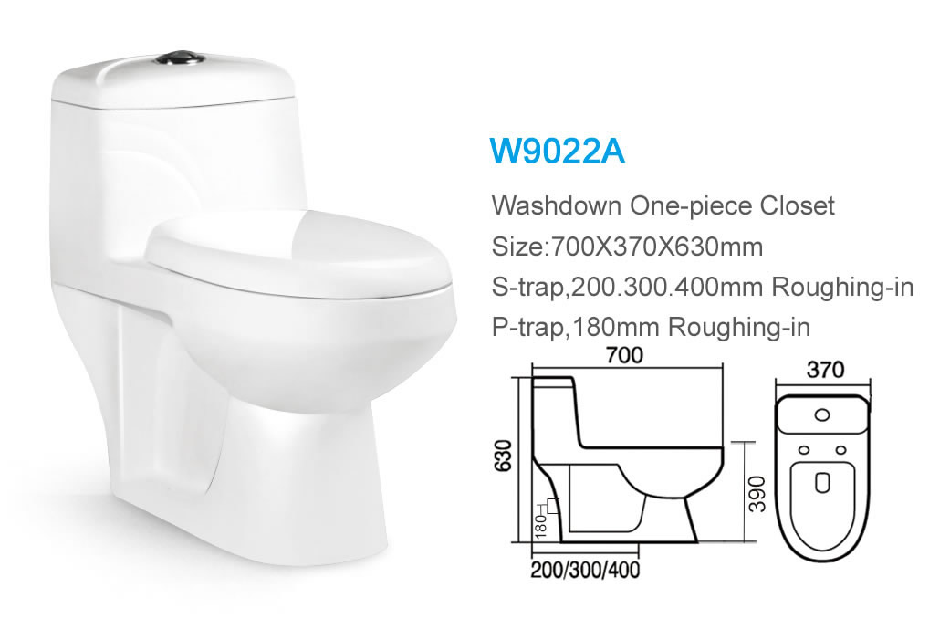 Ceramic Thailand Type Siphonic or Washdown One Piece Toilet