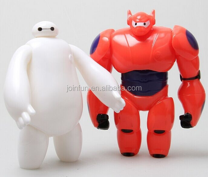 movable cute baymax action figure 3d movable action figure pvc custom make movable articulated action figure