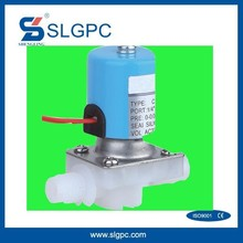 Xikou cheap pneumatic automatic valves SLGPC-P04 low pressure plastic solenoid electric water shut off valve