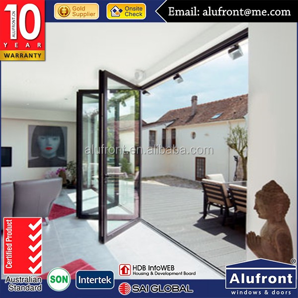 Australia AS2047 standard shop front outdoor powder coated aluminum glass door and house