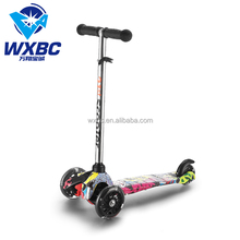 Water transfer kids scooter 3 wheel kick scooter for sale