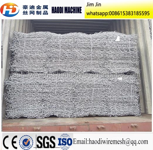 Heavy Zinc Coated 250g/m2 Hexagonal Gabion boxes/gabions 2M*1M*1M