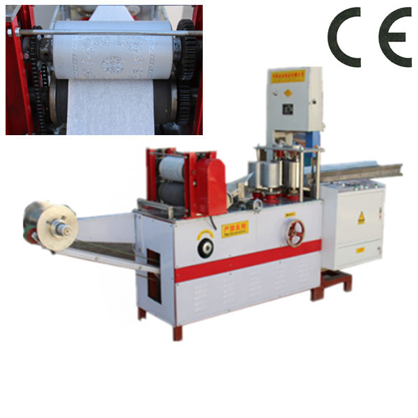 Embossing z type hand towel folder machine
