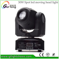 30W LED mini spot moving head stage light / mini moving head light 30W spot