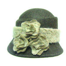 2014 Winter wool felt unique hats for women