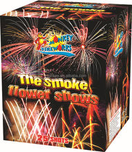 High quality The Smoke Flower Shows 25 Shots Consumer Cake Outdoor Fireworks for sale