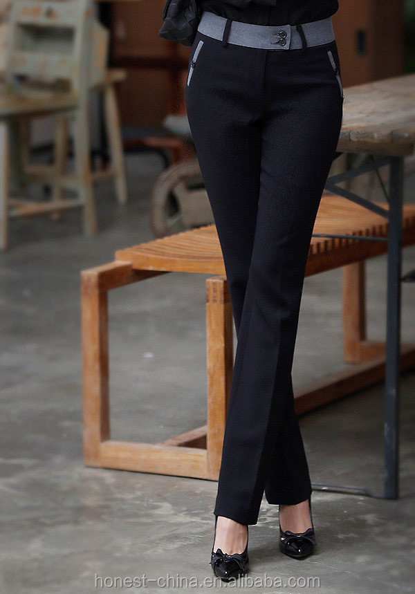 hot sale comfortable spandex ladys dress pants