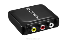 Latest Plastic HDMI to AV /RCA converter with high quality,support 1080p
