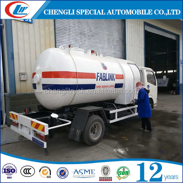 CLW Manufacturer new 4*2 two axles high pressure LPG bobtail Road Tankers Trucks for sale