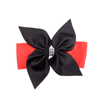 Maya new design 6 inch ribbon bow girls hairpins windmill style hair clips
