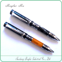 Simple promotional slim rollerball gel pen Luxury Business rollerball pens Gift of Acrylic ball Pen