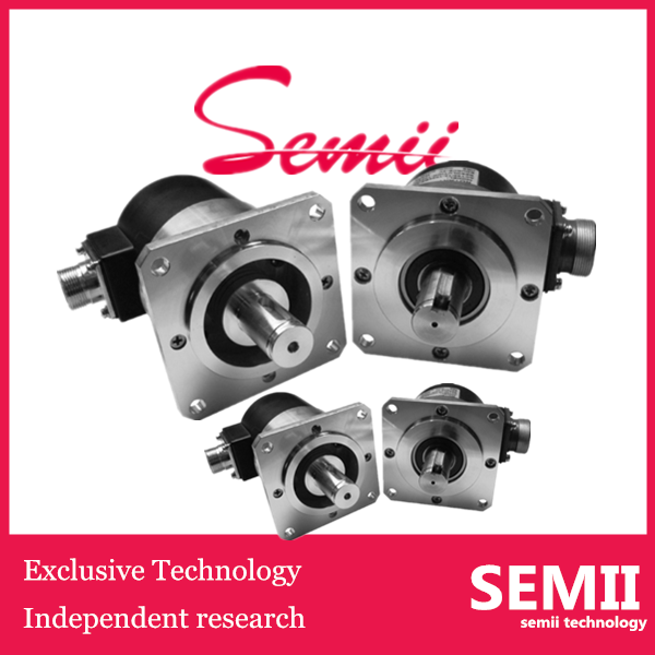 SEMII OD 68mm 12mm 15mm shaft flange encoder 1024 pulse rotary encoder shaft Incremental encoder