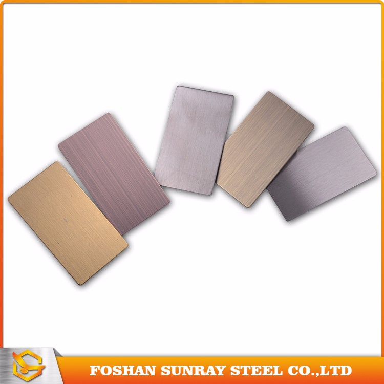 SUS 201 304 316 color hairline finish decorative stainless steel sheet price per kg