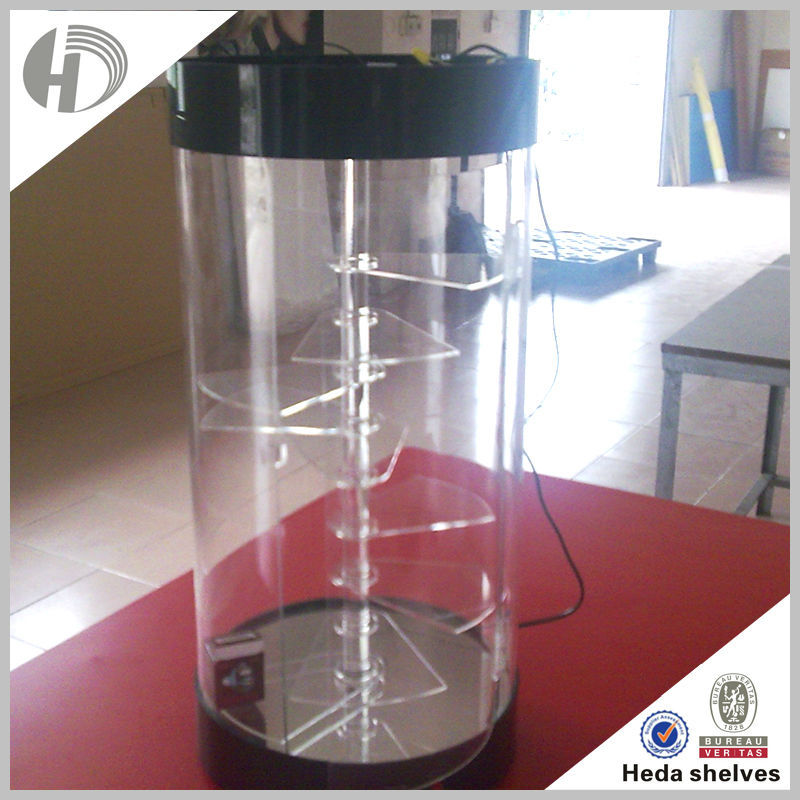 automatic glass Acrylic Electric Rotating Display Stand