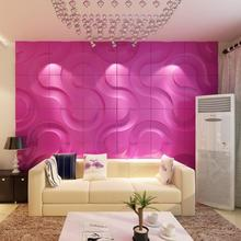 restaurant 3d wall art decor with acoustic leather panel
