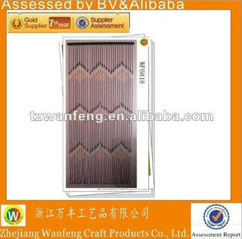 Handmade Wooden Door Curtain with 8 x 8 Wooden Beads, Use as House Decoration