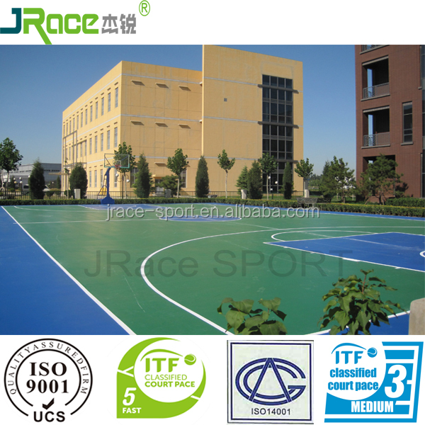 rubber covering plastic outdoor flooring material for outdoor sport
