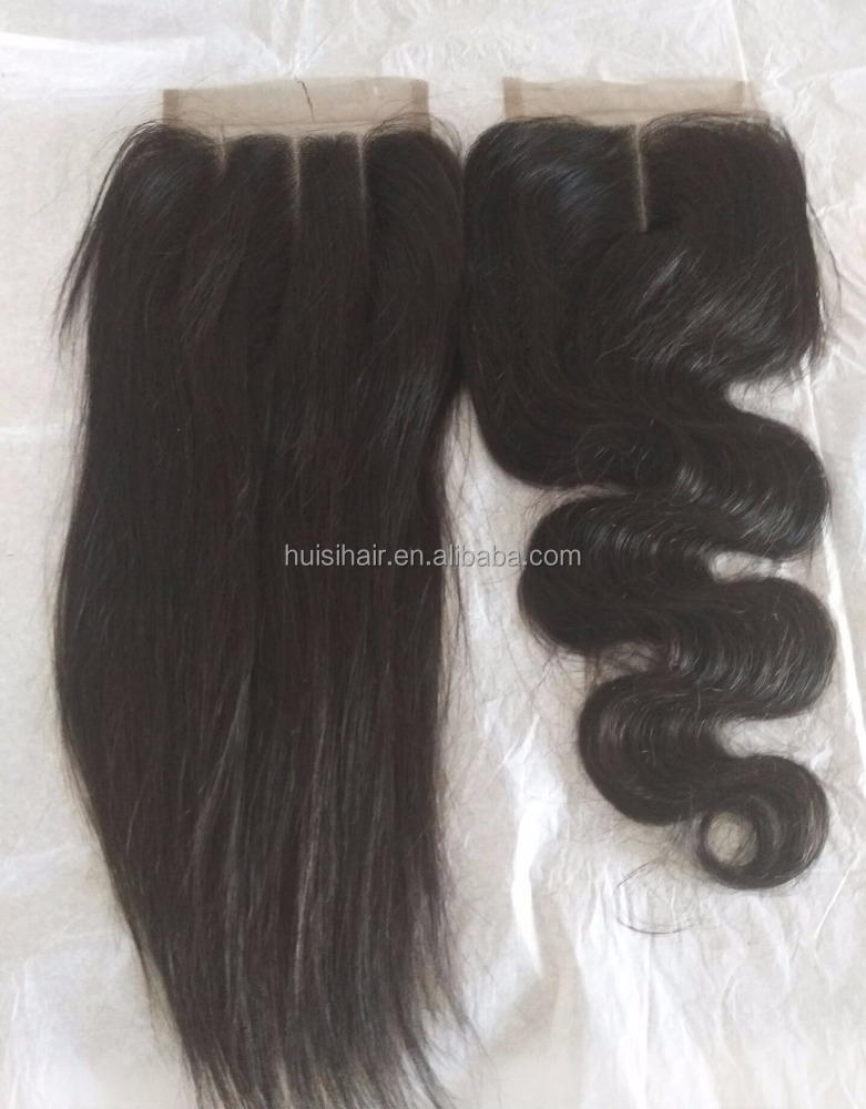 Rapid shipping natural hair retail in USA factory best price middle/three part closure virgin Malaysian