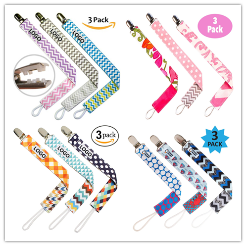Variety Of Styles Unisex Stylish Designs Great Teething Ring Holders Baby Metal Pacifier Clips
