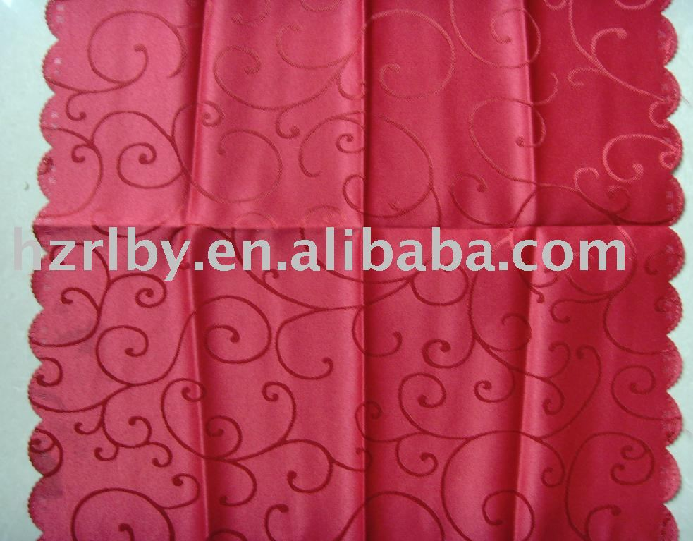 woven jacquard 100% polyester table cloth
