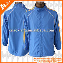 2013 Polyester Hoody Customized Mens Windbreaker Jacket