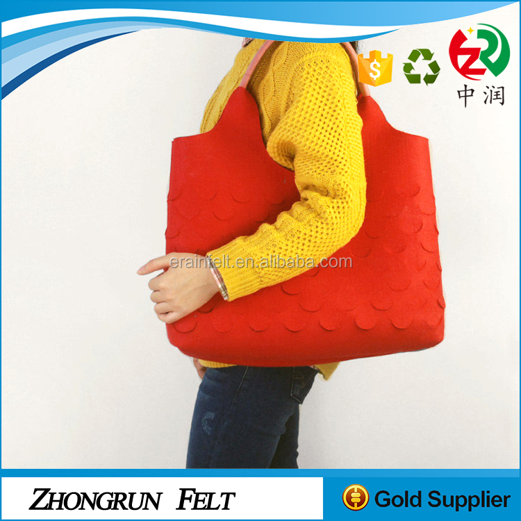High Quality Eco Frendly Portable Light Canvas Hand Bag Baby Supplies Washable Felt Tote Bag For Mommy
