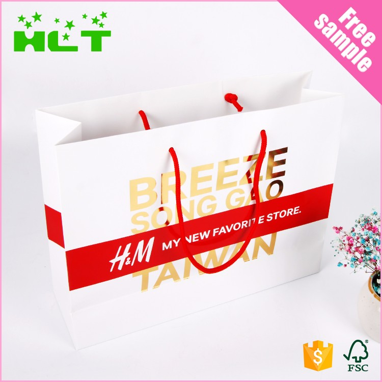 China gift pink famous branded kraft paper shopping bag manufactures