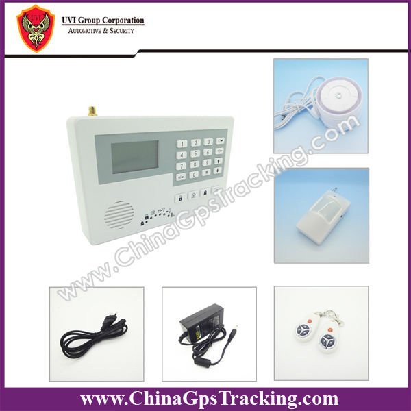 Multi-function intelligent gsm alarm systems with 8/16 wired and 16 wireless zone