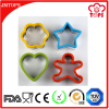 Cookie Tool Type 4 pcs Set Christmas Silicone Cookie Cutter/ Cute Silicone edged Stainless Steel Cookie Cutter -FlowerStarHeart