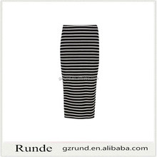 Summer cotton wrap around stripe long wrap skirt