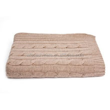 100% Cashmere Blanket Cable knit Throw Kashmir Throw Blanket