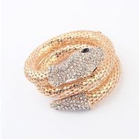 EQ98077 wholesale bling bling fashion rhinestone snake chain bracelet