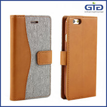 [GGIT] Colorful PU+Jeans Leather Mobile Phone Accessories Case Cover with Card Slots and Stand