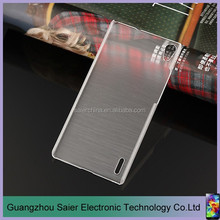 epecail design clear with crack PC case for huawei ascend p7