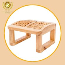 natural color foot massager india, wooden feet roller stool
