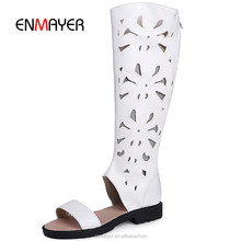 Gladiator thigh high women summer boots sex hollow out open toe women thigh high gladiator sandals