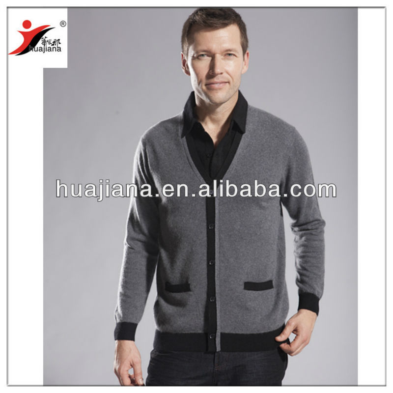 man sweater shirt collar 2013 new design /80% cashmere