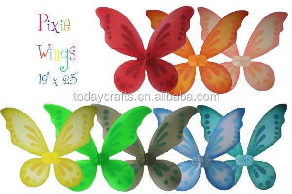 "22""*18"" colourful fairy pixie wings"