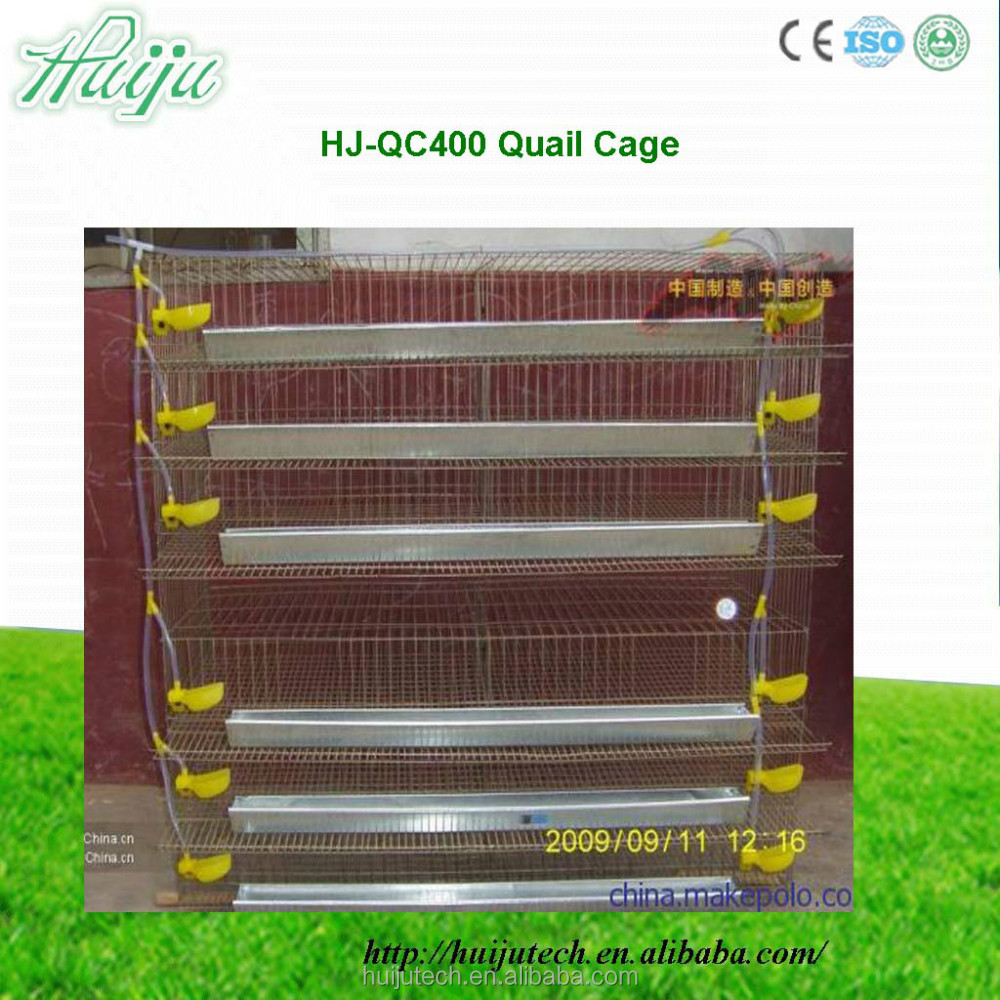 6 Layer Galvanized Wire quail farm cage 400 quail cage for zimbabwe farm types of poultry cage HJ-QCX400