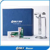 Popular Shaving Kit Box Safety Razor With Solingen Blades
