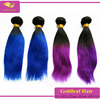 Very soft and thick 100% virgin human hair colored dark blue hair extensions