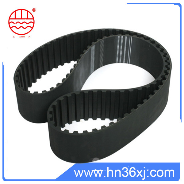 Strong tension pulley timing belt for industrial machine