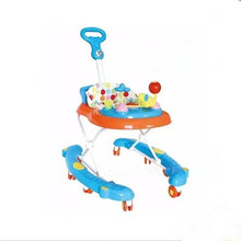 Plastic Round baby walker with 8 swivel wheels/Height adjustable baby walker pusher