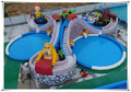Giant Jungle Theme Inflatable Water Games Park For Sale, Adult Inflatable Water Park