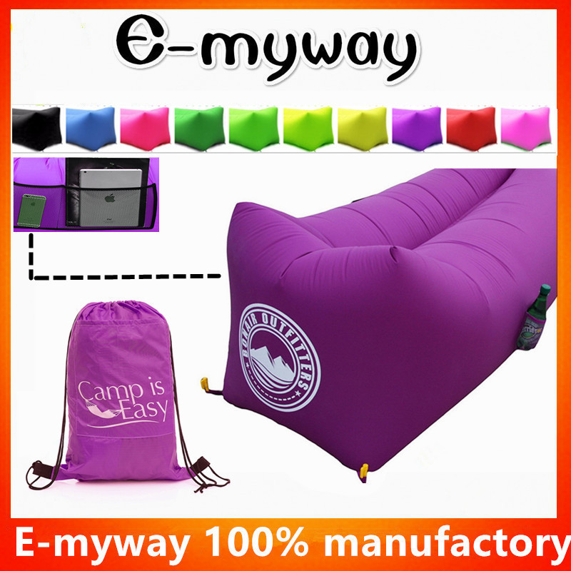 2018 beach camping lazy air bed inflatable lounger air sofa sleeping bag for sale