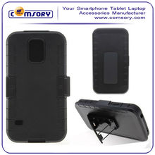 Holster Phone Cover with Kickstand and Locking Belt Swivel Clip For Samsung Galaxy S5 i9600