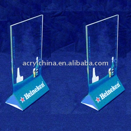 Plexiglass Menu Display / Acrylic Tabletop Sign / Menu Holders