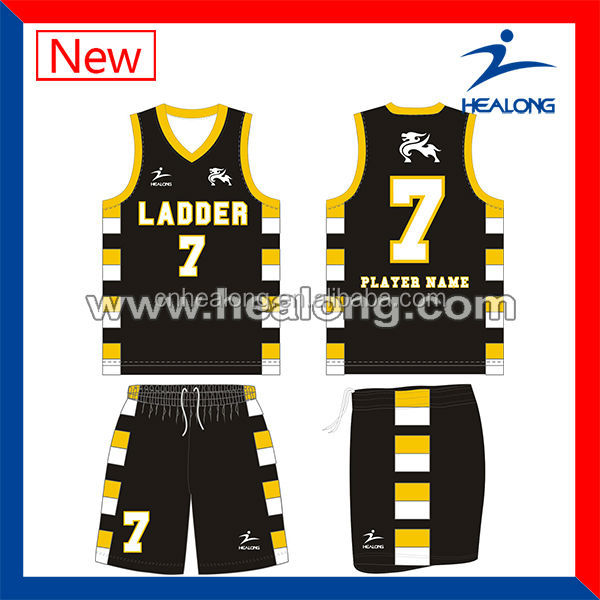 Cool Customised Sublimation Basketball Jersey Design 2016